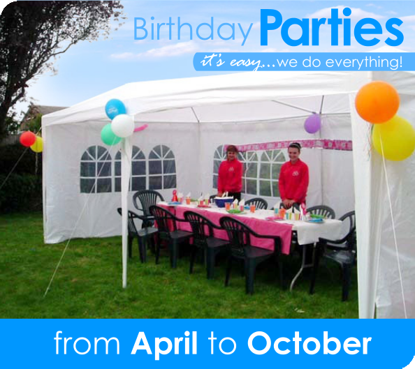 Birthday Parties: it's easy — we do everything