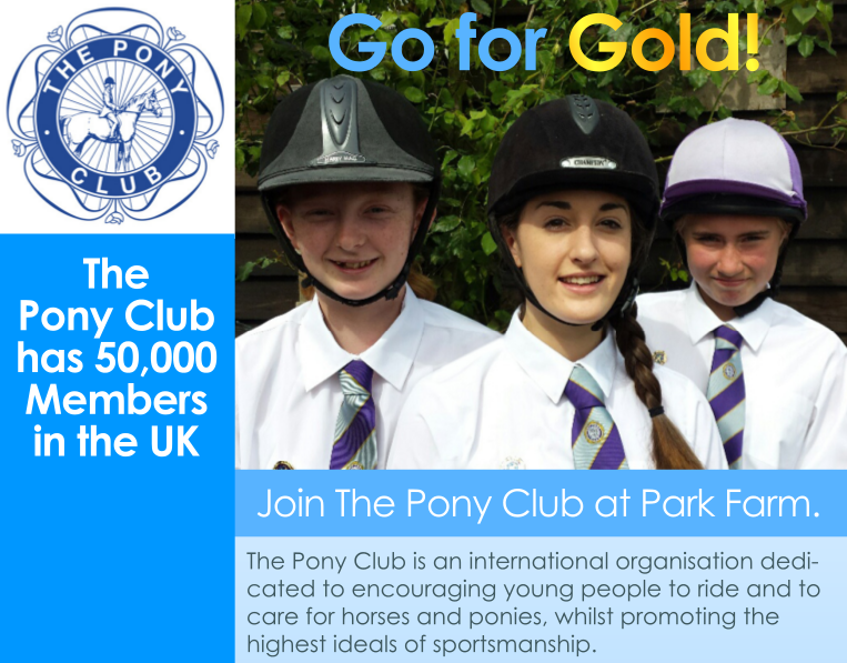Go for Gold! Join The Pony Club at Park Farm.
